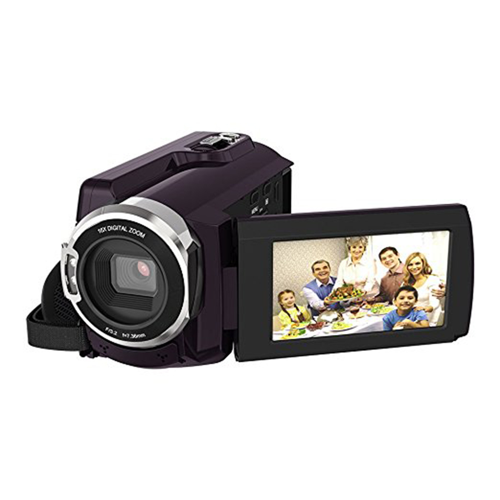 4K Camcorder Video Camera Ultra HD 60 FPS Digital Video Recorder Wifi night Vision LCD Touchscreen External with Wide Angle Lens 14
