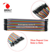 Buy Dupont Line 400pcs 20cm 2.54mm 1P-1P Male Male Jumper Wire Dupont Cable arduino for $9.18 in AliExpress store