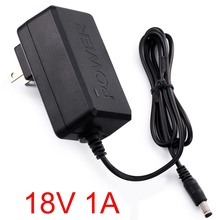 1PCS 18V 1A AC 100V-240V Converter Adapter DC 18V 1A 1000mA Power Supply US Plug 5.5mm x 2.1-2.5mm