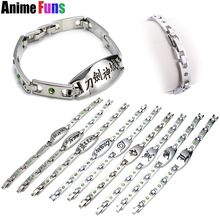 9 type Anime Bracelet One piece Naruto Fairy Tail Hatsune Miku Sword Art Online Bleach Kuroko no Basket Death Note Logo Bangle