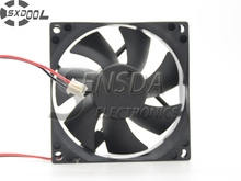 SXDOOL 8cm 80mm cooling fan 8025 80*80*25 80X80X25 mm Sleeve DC 24V 0.15A case cooling fan 2-wire 2pin quiet low noise