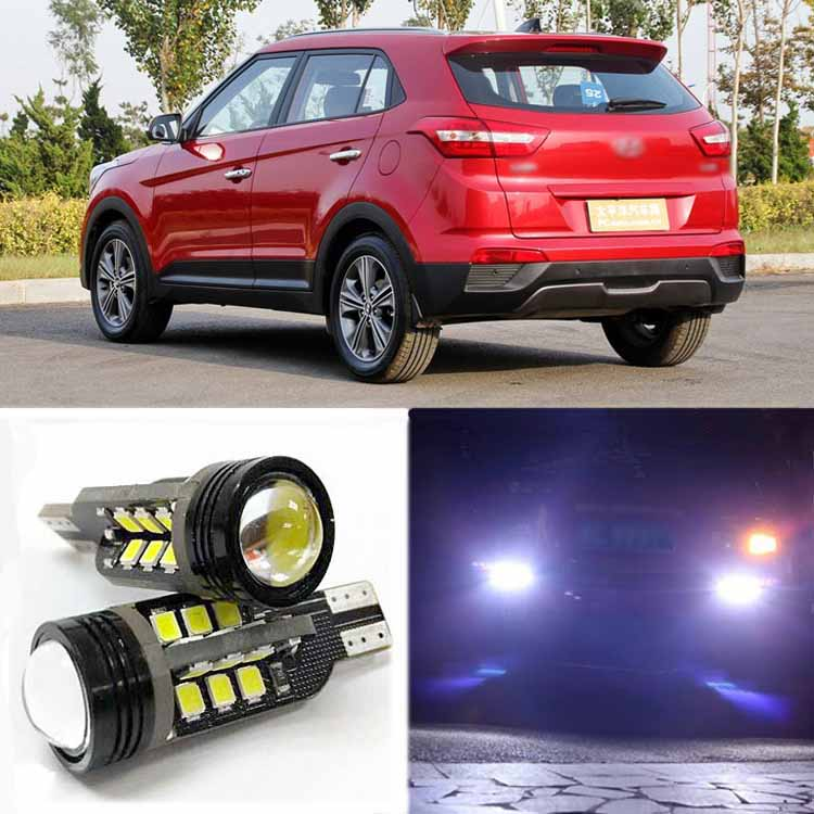 2pcs Brand New High Quality Superb Error Free 5050 SMD 360 Degrees LED Backup Reverse light Bulbs T15 For Hyundai ix25<br><br>Aliexpress