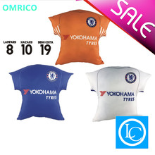 1718Football Fan Car Seat Cushion Chelsea Jersey Shape Car Lumbar Seat Support Auto Decorative Cushion Soccer Fans Souvenir Gift