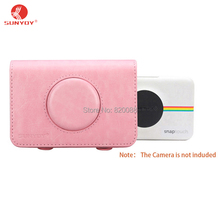 Sunyoy Vintage Pink/Purple PU Leather Case Bag for Polaroid Snap Touch Instant Print Digital Camera,Free Shipping