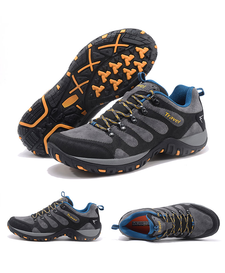 MERRTO Hiking Shoes Men's Outdoor Sports Shoes Non slip Wear resistant Hiking Boots Breathable Cushioning Rock Climbing Shoes