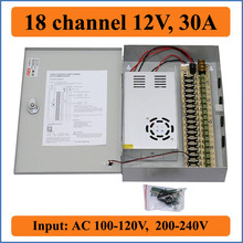 18 channel DC12V 30A CCTV Camera Power Box IR Illuminator Control for 18CH DVR CCTV Camera switching Power Supply Box 18 Port