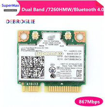 НОВЫЙ Dual Band Беспроводной Wi-Fi карты для Intel AC7260 7260HMW ac мини PCI-E 2,4 г/5 ГГц Wlan Bluetooth 4,0 Wi-Fi карты(China)