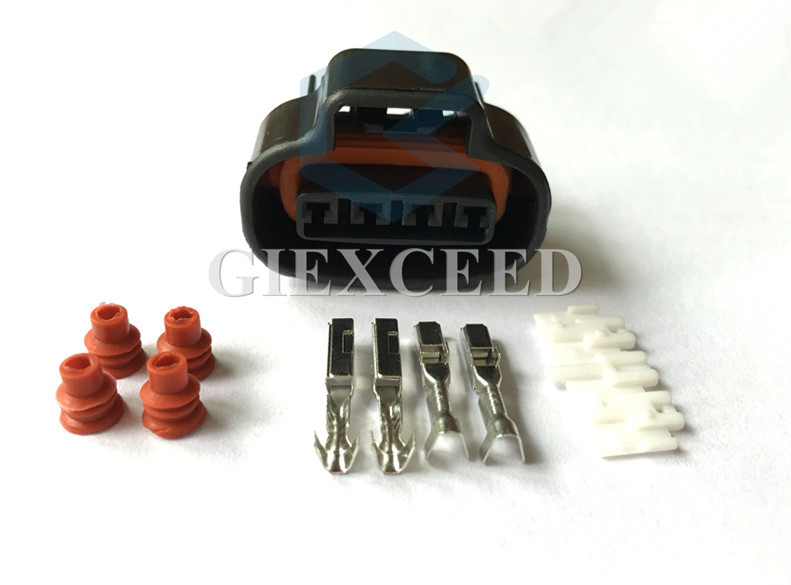 5 Sets DJ7041A-2.2-21 Distributor Crank 4 Pin Female Wire Connector TPS Boost Sensor Oval Ignition Coil Connector