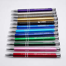 Wholesale 10 colors luxury pen promotional gifts customized logo by laser marking free for school supplies(China)
