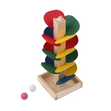 OCDAY Creative Wooden Tree Blocks Marble Ball Run Track Game Toy for Baby Kids Children Intelligence Educational Toy New Sale