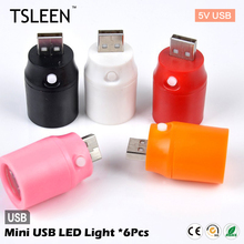 +Cheap+ 6Pieces safety mini pocket torch usb led light flashlight power bank hub outdoor hiking # TSLEEN