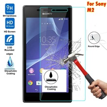 For Sony M2 2.5D 0.3mm 9H Premium Tempered Glass For Sony Xperia M2 With Retail Box Screen Anti Shatter Protector Film M 2 glass