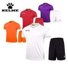 KELME Training 15-16 Soccer Uniform Football Soccer Sets Short Sleeved Soccer Jersey China Runningsets Kits Adult DIY Logo Good
