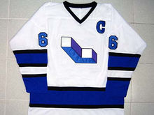MARIO LEMIEUX 66 LAVAL VOISINS HOCKEY JERSEY WHITE throwback jersey(China)