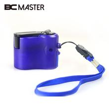 BCMaster 2017 New Phone Hand Crank Dynamo Charger Charging USB Hands Blue Emergency Dynamos USB Hand Dynamo Charger