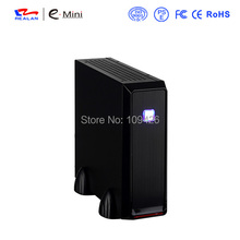 REALAN Custom Gaming Mini ITX Computer Steel Case E-3019 with Power Supply SECC 0.6mm silver top selling case supplier(China)