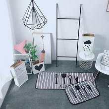 Nordic Simplicity Mat The Bedroom Living Room Kitchen Pad  Gray White Stripes Balcony Window Office Floor Chair Mats
