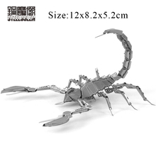 3D Metal Puzzles DIY Machine Insect Scorpion Assembling Kits Model Jigsaws Adult Kids Education Birthday Gift Intelligence Toy