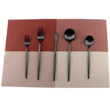 5Pcs/Lot Black Cutlery Set 18/10 Stainless Steel Dinnerware Set Fork Knife Scoops Silverware Set Home Tableware Set Dessert Fork