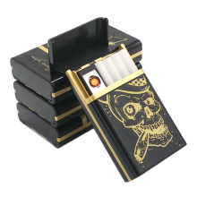Multifunction Skull Style USB Cigarette Lighter With Case,Flameless Windproof and usb Rechargeable Lighters