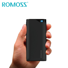 2017 New Arrival Original ROMOSS NE10 10000mAh Power Bank Backup External Battery Pack LED Digital Display 2 USB 2.1A Outpput(China)