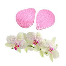 JM013 Phalaenopsis flower leaves texture silicone fondant cake molds soap chocolate mould for the kitchen baking clay mould