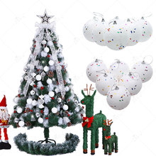 ZLJQ 6Pcs 4cm Christmas Tree Decoration Xmas White Snowball Foam Ball Party Hanging Ornament Balls