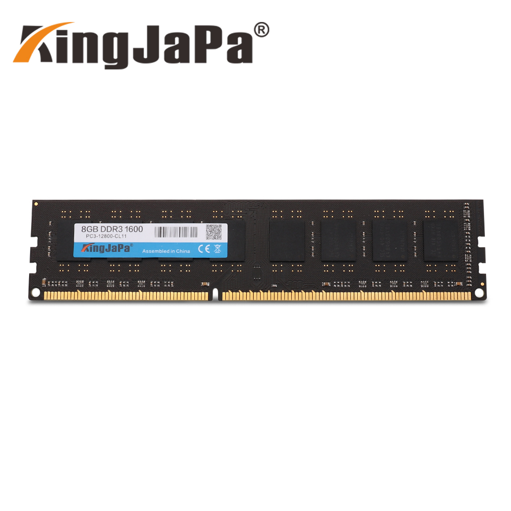 Kingjapa Ram DDR3 4GB 1333 MHz Desktop Memory 240pin 1.5V 2GB 8GB New DIMM 1600 PC3 12800 CL11 DDR2 2G 800MHz PC2-6400U New
