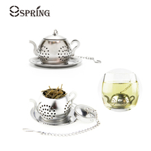 Fancy Mini Teapot Tea Strainer Stainless Steel Tea Infuser Filter Durable Metal Herb Leaf Tea Infuser Mesh Tea Tools Accessories(China)