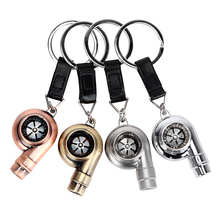 4 Colors Turbo Keychains Auto Key Rings Vintage Decor for BMW Key Chain Car Styling Accessories for Ford BMW E46 VW Audi Toyota