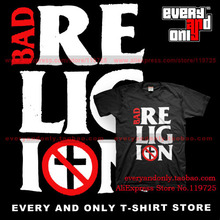 Bad Religion Band Stacked Logo 100% cotton casual t-shirt Hardcore punk Tee t(China)