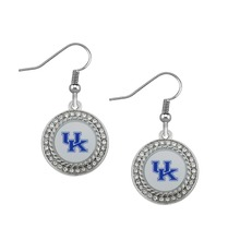 1 pair women jewelry fashon gift University of Kentucky Wildcats Enamel Alloy Earrings sports fan earrings Accessories Souvenirs