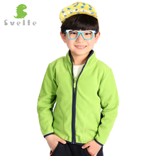 SVELTE 2-9Y Children Boys Girls Solid Fleece Jacket Cardigan Chaqueta Coat Jersey for Fall Winter Kids Outerwear Overcoat Parka(China)