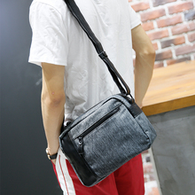 Tidog Male casual canvas fashion shoulder bag message bag(China)