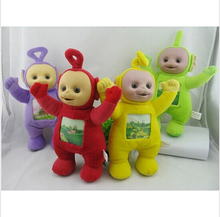 1Pcs 33cm Teletubbies Baby toys plush Dolls 3D Export US toy for Kids Christmas gifts Children gift TV Doll free shipping(China)