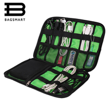 BAGSMART New Data Cable Practical Earphone Wire Storage Bag Power Line Organizer USB Flash Disk Case Digital Accessories