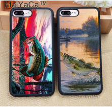 MaiYaCa Fishing Lake Sunset Soft Rubber Skin Cell Phone Cases Coque For iPhone 8 6 6S Plus 7 7 Plus 5 5S 5C SE Back Cover Shell(China)