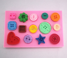 The button set fondant cake molds soap chocolate mould for the kitchen baking  FM207