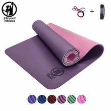 TPE Yoga Mats 3 in 1 include Yoga Mat Bag Environmental Tasteless Colchonete Fitness Gymnastics mat gym exercise mats 183*61*0.6