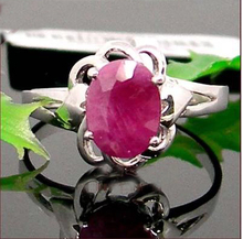 GVBORI 1 Carat Natural Ruby Women Ring silver  with Certificate Best price,Gift for yourself Girlfriend Mother
