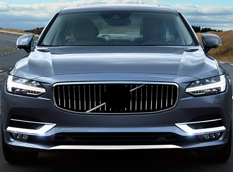 CNORICARC Chrome Styling Car Front Fog Light Cover Trim Strip For Volvo S90 2017-18 Exterior Accessories Body Decorative Sequin (4)