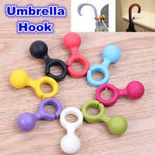 6pcs novelty Umbrella Stand Ring Holder Hook Hanger stand support rack mount folding Bracket Storage Rack Home Decoration