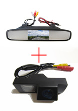 Color CCD Chip Car Rear View Camera for TOYOTA LAND CRUISER 200 LC200 / Toyota REIZ 2009 +  4.3 Inch  rearview Mirror Monitor
