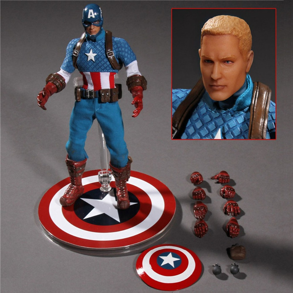 Mezco Movie Captain America One:12 Collective 6 Action Figure Free Shipping<br>