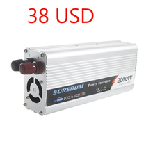 Car inverter 2000w power inversor 12v 220v 1 USB auto adapter vehicle transformer car-charger convertidor de corriente 12v a 22