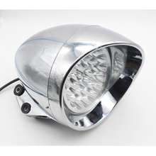 2016 New Motorcycle Headlight Chrome Bullet LED Headlamps For Harley Chopper Touring Custom Headlamp Free Shipping