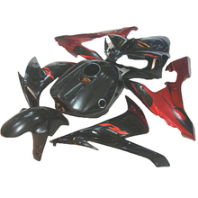 Motorcycle fairing fit for YZF1000 2005 2004 2006 Red flames YAMAHA R1 04 05 06 YZF R1 fairings ABS xl31(China)