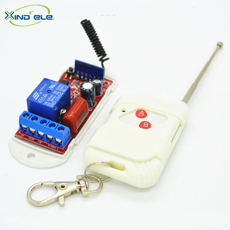 XIND ELE 1 Ch 433mhz Remote Control Switch AC 110V - 220V + 2-key Remote For Light and Door #RF220-1L-433+WR2#<br><br>Aliexpress