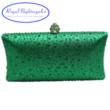 Buy Women's Dark Green Evening Clutch Bags Sparkle Crystal Diamonds Ladies Wedding Prom Evening Party Crystal Box Clutch for $18.73 in AliExpress store