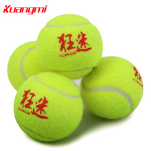 Kuangmi New 3pcs/pack Tennis Balls Official Competition Training Tennis Ball Rubber Compound+Synthetic Wool Fiber  Green